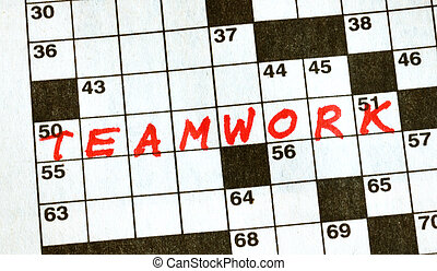 The Word Teamwork on Crossword Puzzle