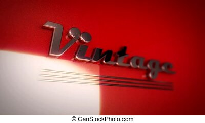 The word Vintage written in retro style