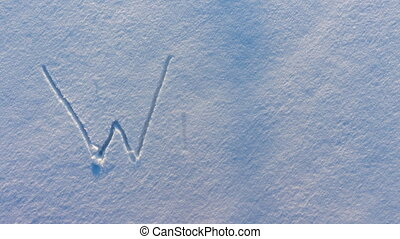 The word Winter appears on the snow