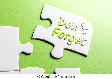The Words Don't Forget In Missing Piece Jigsaw Puzzle