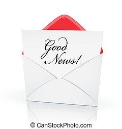 the words good news on a card