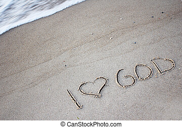 the words  in the sand