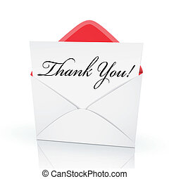 the words thank you on a card