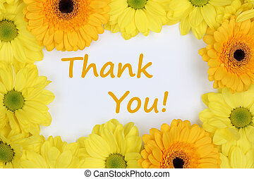 Thank You with flowers Chrysanthemums