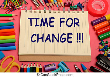 The words Time for change