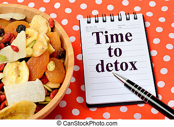 The words Time to detox