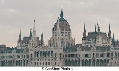 The world-famous building of the Hungarian Parliament in...