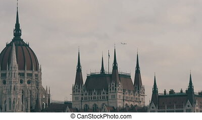 The world famous parliament building in Budapest built in...