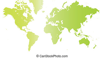 the world in green color.
