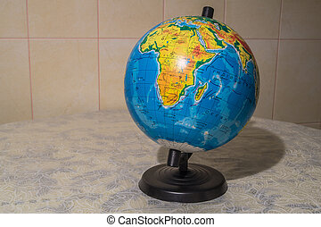 The world on the globe