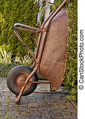 the worn wheelbarrow