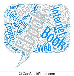 The Ws Of Ebooks Word Cloud Concept Text Background