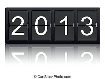 The year 2013 on digital display