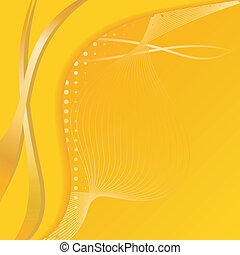 The yellow abstract background. EPS10