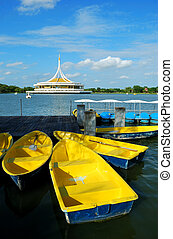 The Yellow Boat in the Lake