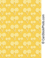 The yellow pattern of many candys - The yellow abstract...