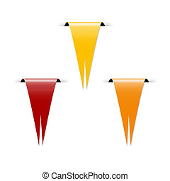 The yellow, red and orange flag - The set of three blank...