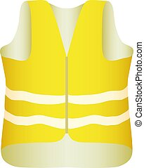 The yellow vest with glistening stripes. Vector...