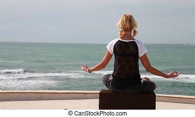 the yoga pose sliding