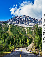 The Yoho National Park in Rocky Mountains