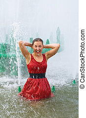girl in wet clothes