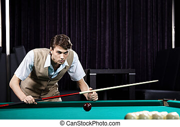 The young man with cue