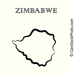the Zimbabwe map