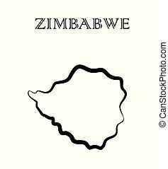 the Zimbabwe map