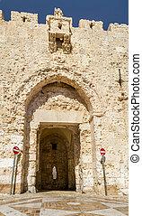 The Zion Gate of Jerusalem, Israel