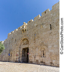 The Zion Gate of the Old City in Jerusalem, Israel