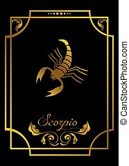the zodiac sign - the illustration with the signs of zodiac.