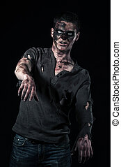 The zombie in brown shirt is monster
