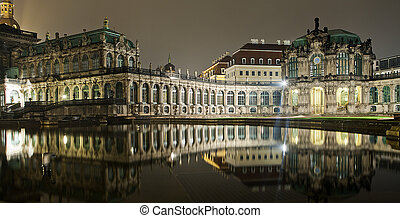 The Zwinger in dresden at night II