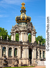 The Zwinger palace of Dresden. eastern Germany, built in ...