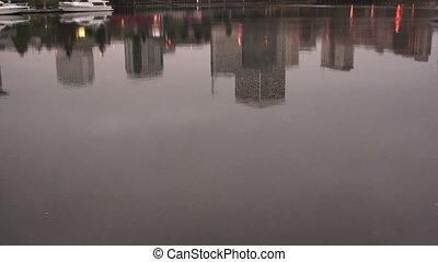 Thea Foss Waterway Downtwon City Skyline Sunrise Tacoma...