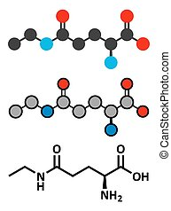Theanine herbal molecule. Constituent of tea prepared from...
