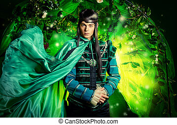 theater actor - Noble fairy elf in the magic forest....