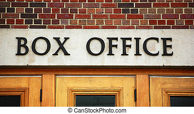 Theater box office sign - Theater box office, close up on...