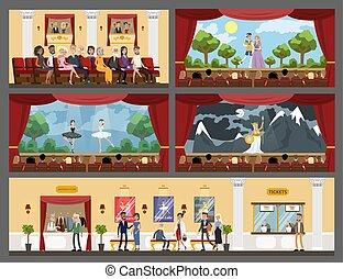 Theater building interior. - Theater building rooms interior...