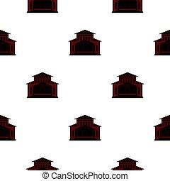 Theater building pattern flat