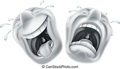 Theater comedy tragedy masks