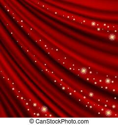 Theater curtain. Mesh.