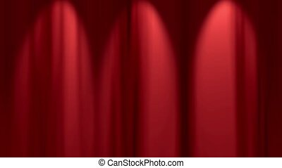theater curtain simple loop - loopable.