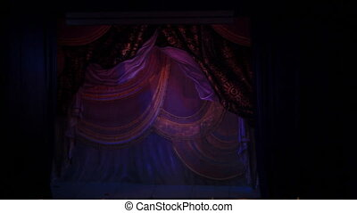 Theater curtain - Theater lowered the curtain