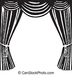 Theater curtain - Open theater curtain - a symbol of the...