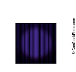 Theater curtain with spotlight
