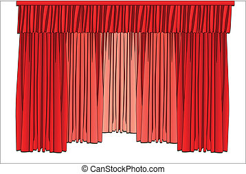 theater curtains - Vector illustration of theater curtains...