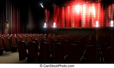 Empty theater hall.
