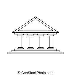 Theater icon in outline style