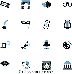 Theater icons set - Theater icon set for web sites and user...